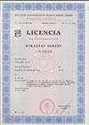 Altys s.r.o. Licencia bezpečnostná služba
